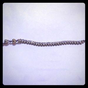 "Jewelry - 7"" Crystal bracelet on lavender rope [JW-64]"